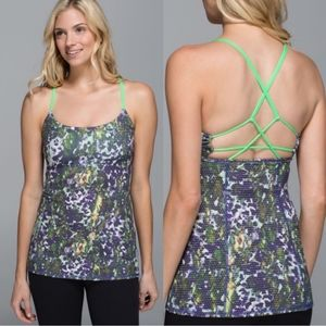 Lululemon Dancing Warrior Floral Strappy Tank Top